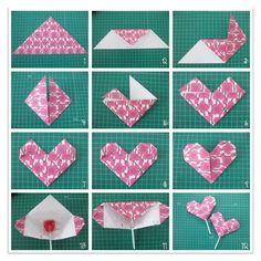 corazón de origami para regalar