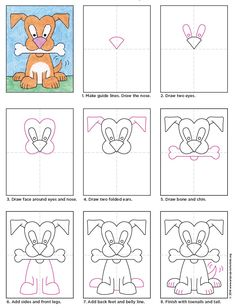 How to Draw a Cartoon Dog - Art Projects for Kids