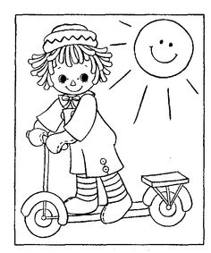 Raggedy Ann and Andy colouring book - Pesquisa Google | COLOURING ...