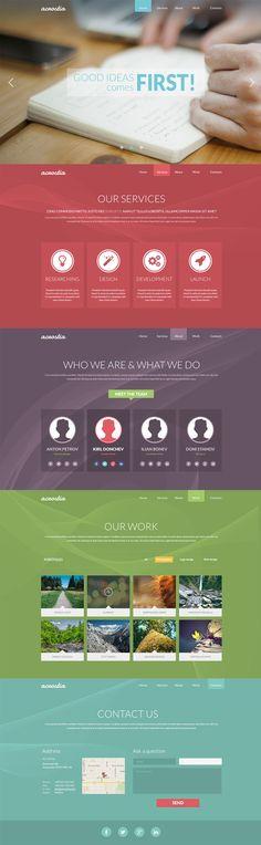 Nice free agency template. #webdesign #template #psd