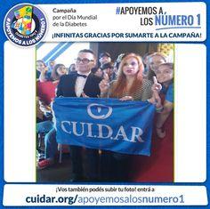 Gracias MARCELO POLINO Y NACHA GUEVARA por apoyar a los Número 1! La Campaña de CUI.D.AR por el Día Mundial de la Diabetes! #Apoyemosalosnumero1