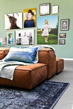 With a sofa in brown tones you always hit - Home Design & Interior Ideas Interior Architecture, Interior And Exterior, Interior Inspiration, Design Inspiration, Design Ideas, Interior Ideas, Turbulence Deco, Tapis Design, Living Spaces