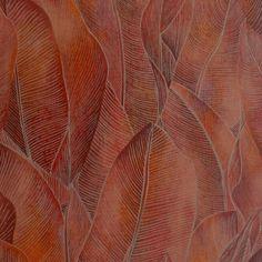 Limba Wallpaper - Masala (73340359) - Casamance Acajou Wallpapers Collection