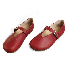 Women Flat Leather Shoes Round Toe Casual Outdoor Soft Loafers - Banggood Mobile