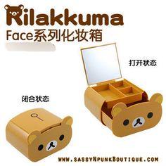 San-X Relax Bear Rilakkuma Jewelry Box with mirror