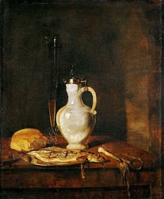 Метсю, Габриель (1629 Лейден - 1667 Амстердам)  --  Обед с селедкой. часть 4 Лувр