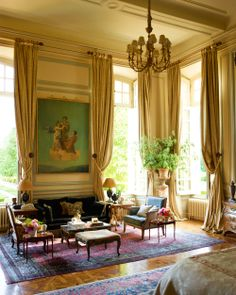 Restored French Chateau - Timothy Corrigan Design - Veranda