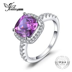 buy jewelrypalace luxury 5 35ct cushion cut created alexandrite sapphire wedding engagement #engagement #ring #sapphire
