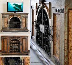 Rustic Furniture for Spanish Hacienda Style Decorating.. Media Cabinets at…