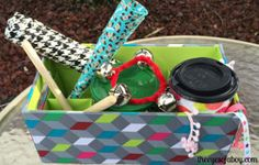Homemade Instruments Kit: create instruments from items you have around the house. Little ones love this!