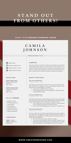 Modern nurse resume template that will help to get the job of your dreams faster! Easy to customize on Word and Apple Pages. Designed by an experienced CreatedResume team these resume templates will catch an eye and help you outstand from the others. #resume #resumetemplate #modernresume #resumeformat #resumedesign #resumetips #createdresume #cv #cvtemplate Rn Resume, Resume Format, Nursing Resume Template, Resume Templates, Registered Nurse Resume, Modern Cv Template, Microsoft Word 2007, Cover Letter Template, Resume Design