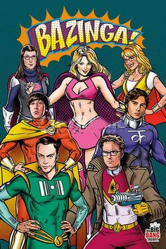 Big Bang Theory: Infamous Superheroes Portrait - Posters.com
