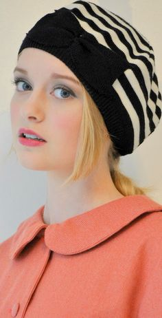 Loooove me some stripes, and it's called the Katie Knit Beret!!!