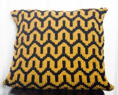 Bold Art Deco Pillow Free Knitting Pattern and more free cushion knitting patterns