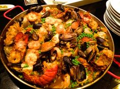 Seafood Paella or any vegetarian dish? We make it all for your exclusive event in Miami. Paella Party Catering services allow you to order a custom package of your choice! Seafood Dishes, Fish And Seafood, Seafood Recipes, Cooking Recipes, Seafood Paella Recipe, Seafood Stew, Recipes Dinner, Healthy Recipes, Paella Party