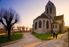Church of Auvers-Sur-Oise...as painted by Van Gogh...will one day return again to see this beautiful place