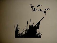 Ducks Duck Hunting Outdoors Vinyl Wall Decal Sticker Wall Mural | eBay