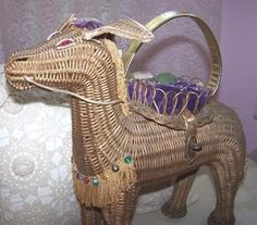 Wicker donkey purse.