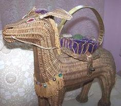 Wicker donkey purse.