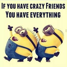 Crazy friends AND minions. That's everything.