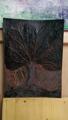 Tree of Life ,work in progress,cold patina.