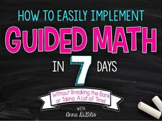 Get guided math up and running in your classroom this year and watch your students improve their math scores, and more importantly, their engagement! Fourth Grade Math, Second Grade Math, Grade 2, E Learning, Math Strategies, Math Resources, Math Activities, Math Games, Addition Strategies