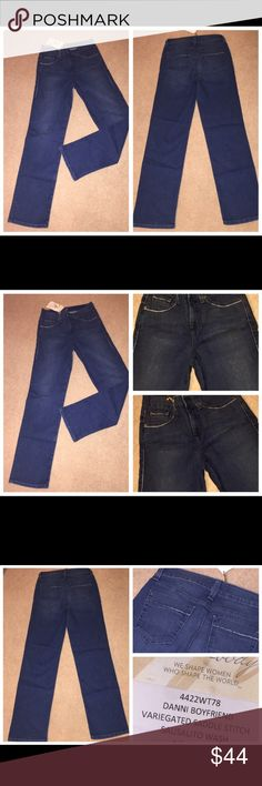 NWT MIRACLEBODY Tummy Slimming 5Pkt Danni Jeans 6 NWT MIRACLEBODY Tummy Slimming 5Pkt Danni Jeans 6. These jeans measure 30 inches in the waist, they are 32 inches at the inseam, and the front rise is 10 inches. Miraclesuit Jeans Boyfriend