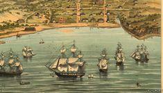 View toward Portsmouth Sq. from San Francisco Bay, 1846-47