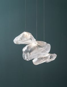 Core77 / Blowing Glass Into High-Performance Pillowcases, or How Bocci Created Its Cloudlike Pendant Lights