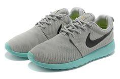 Cheap Sale 2013 New Women's Nike Roshe Run Shoes Gray Jade Black - Women's Roshe Run Shoes
