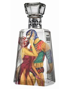 1800® Tequila commissioned a bunch of established and up and coming artist to create a label for the brand that is based on the Lucha Libre (Mexican wrestling).