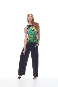 top: 216021 pant: 216004 #TROPICALPARADISE #SPANNER #ACTIVE #INSPIRED #STYLE #COLLECTION #SPRING #SUMMER #2016 #S16 #WOMENS #FASHION Summer 2016, Spring Summer, Tropical Paradise, Capri Pants, Inspired, Womens Fashion, Inspiration, Collection, Tops