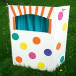 Cute & inexpensive puppet theatre to Make. #DIY