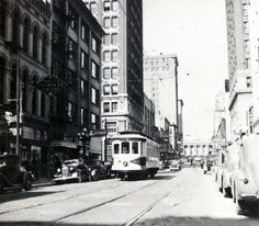 downtown in the 1930s