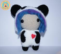 Kigurumi Panda por CrochetinYou en Etsy