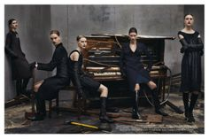 "First look of AW12-13 ""Collections"" Steven Meisel for Vogue Italia 