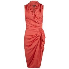 Cancity Dress (1 450 SEK) ❤ liked on Polyvore featuring dresses, vestidos, allsaints, shining dress, draped dress, wrap dress and draped wrap dress