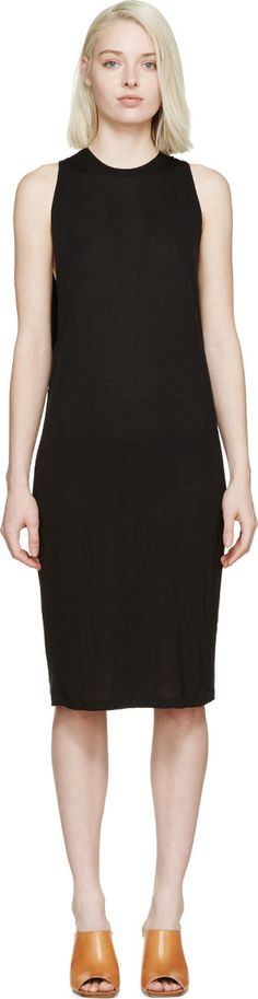 Acne Studios: Black Corvina Shift Dress | SSENSE $200 USD