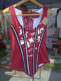 Recycled T-shirt corset by sassycrafter, via Flickr