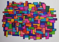 Boxes - sharpie art - SF