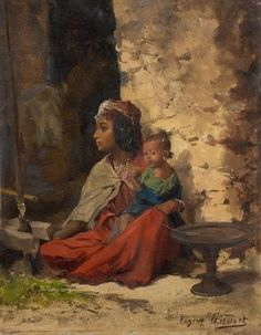 View Maternité By Eugène-Alexis Girardet; oil on panel; x cm; Access more artwork lots and estimated & realized auction prices on MutualArt. Soft Sculpture, Sculptures, Figure Painting, Figurative Art, Art Dolls, Original Artwork, Past, Auction, Gallery