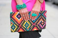 pattern + colors + turq accessories