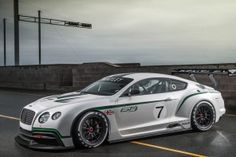 Bentley Continental concept launched at the 2012 Paris Auto Show. This will be the flying B's first foray into endurance racing since they won Le Mans in 2003 with the Speed 8 in the prototype class. Bugatti, Maserati, Ferrari, Bentley Auto, Bentley Motors, Bentley Speed, Luxury Sports Cars, Sport Cars, Race Cars