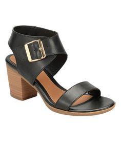 Look at this #zulilyfind! Black Maitland Leather Sandal #zulilyfinds