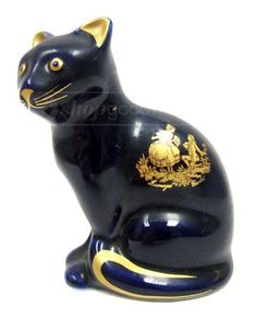 Limoges Castel Cat Figurine