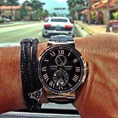 Ulysse Nardin Maxi Marine Chronometer ✖️ #watch #watchporn #wristgame #bracelet #mensfashion #luxury #lifestyle #luxurylife #dubai #dreambig #ulyssenardin #gold #money #millionaire #rich #jewelry