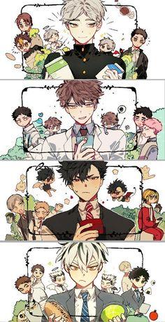 i love it - Anime Anime Boys, Manga Anime, Manga Haikyuu, Haikyuu Funny, Haikyuu Fanart, Fanarts Anime, Cute Anime Guys, Kuroo Tetsurou, Haikyuu Karasuno