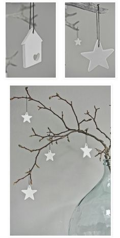 Xmas idea diy Xmas Decorations, Christmas Crafts, Christmas Things, Christmas Decor, Embellishments, Wall, White Christmas, Manualidades, Modelling Clay