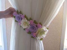 13 Ideas hermosas de sujeta cortinas con forma de flor ~ lodijoella
