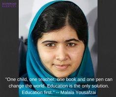 Congrats Malala, on winning the Nobel Peace Prize!